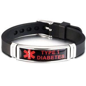 Type 1 Diabetes Awareness Medical Alert Bracelet
